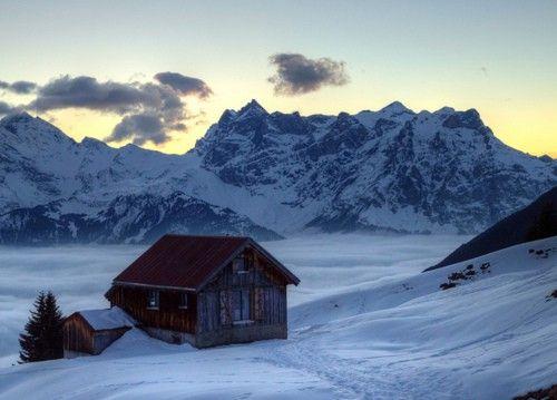 a ski traverse commute...
