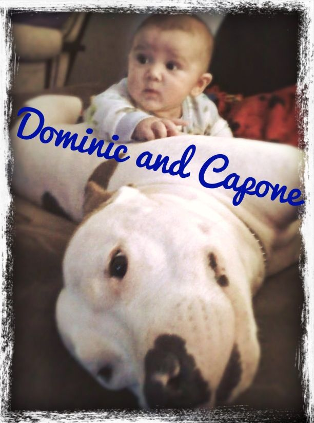 Dominic and his dog, Capone.