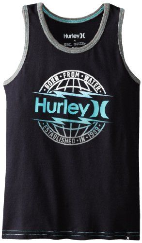 Black Friday Hurley Boys 2-7 Global Tank, Black, 6 from Hurley Cyber Monday