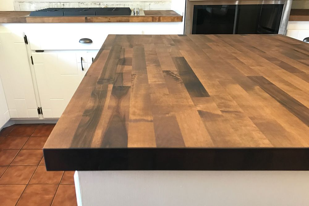 Vinegar And Steel Wool Stain On Birch Butcher Block Countertops