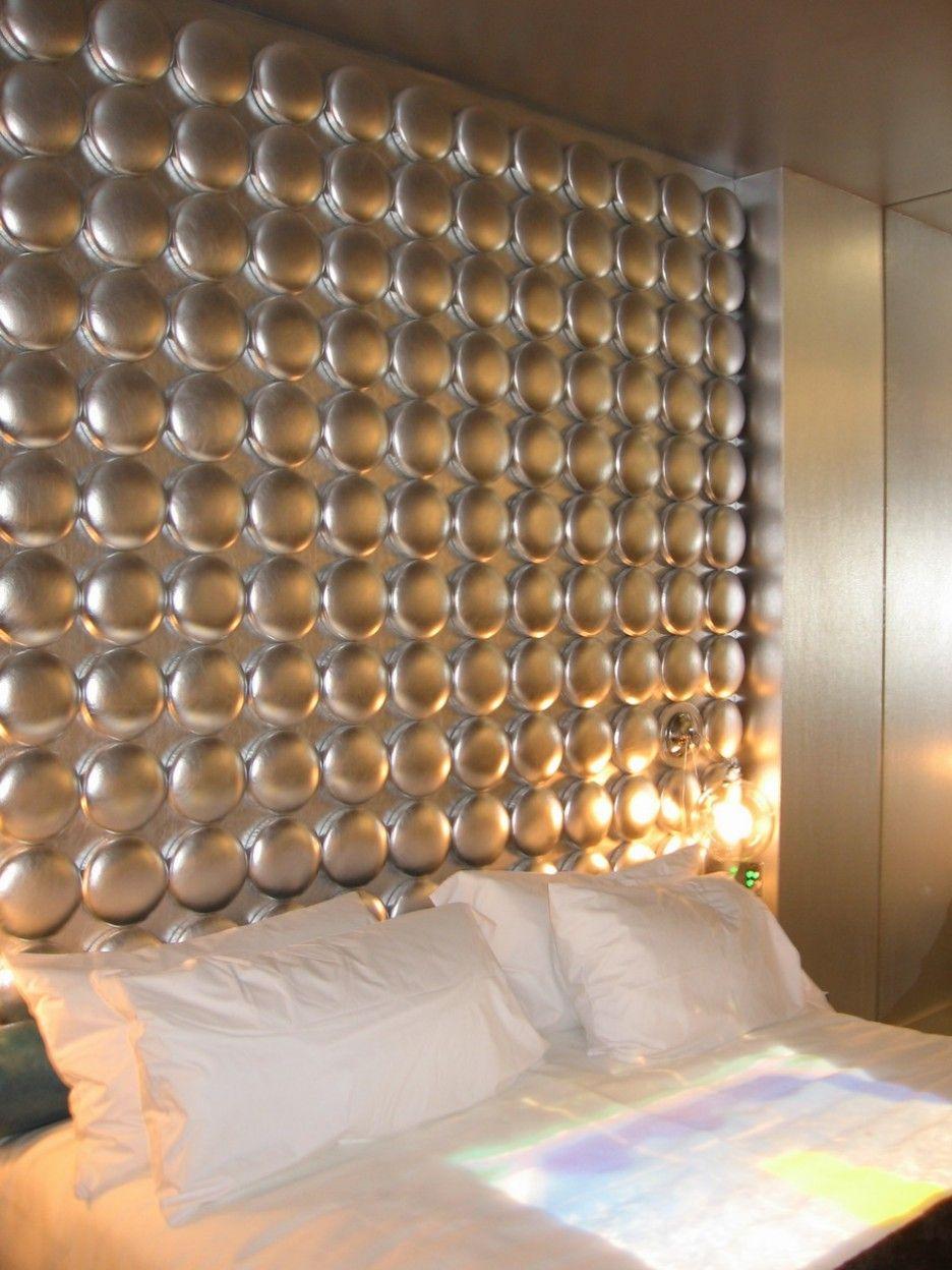 Padded Wall Panels For Elegant Bedroom Interior Delightful Modern Master Bedroom Dotted Pattern De Upholstered Walls Upholstered Wall Panels Headboard Designs