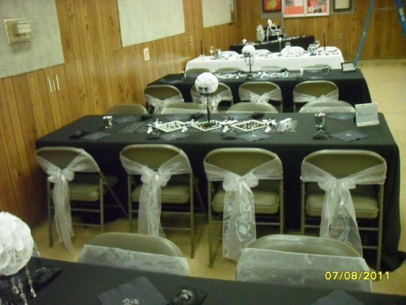 if we can t afford chair covers the bows in gold would still rh pinterest com