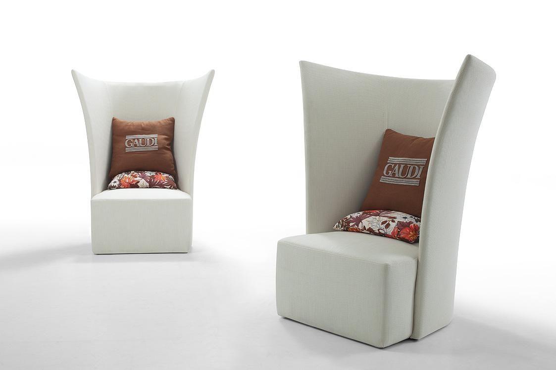Room Modern White Fabric Leisure Chair