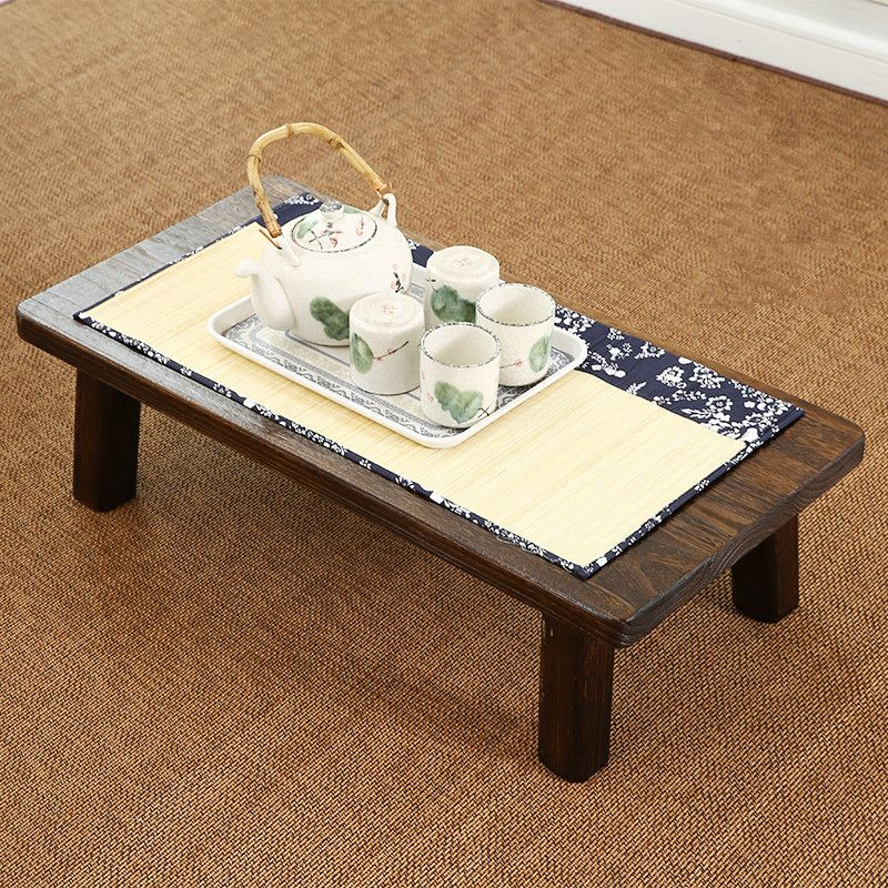 solid wood japanese tea table rectangle 110 45cm antique furniture rh pinterest com