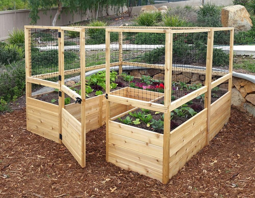 For Garden Inspiration: Deer Proof Cedar Complete Raised Garden Bed 8' x 8' x 20