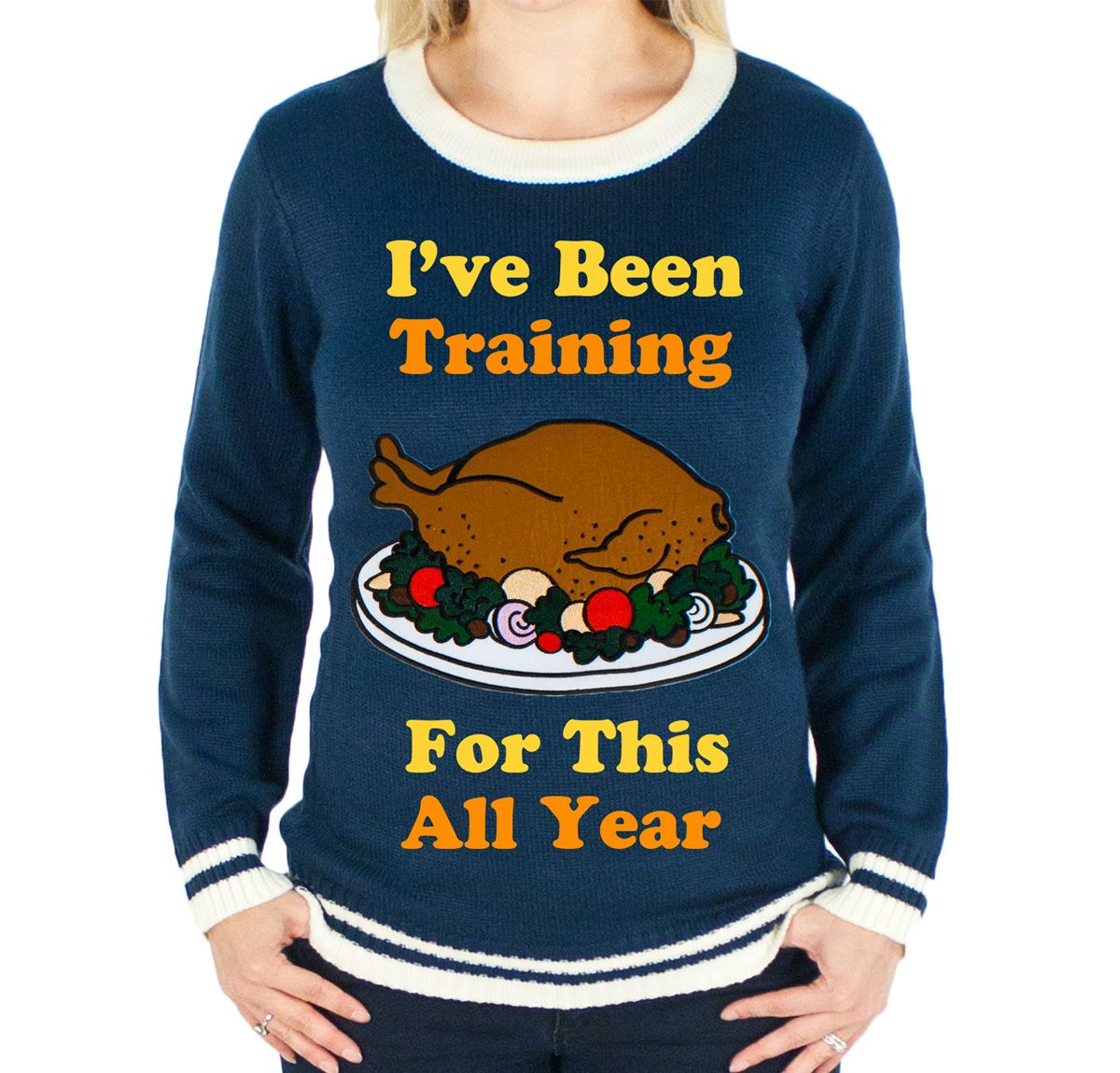 I've Been Training For This All Year Thanksgiving Sweater. UGLY Holiday sweater. Thanksgiving sweatshirt. Funny Thanksgiving sweater. 3jHKRi