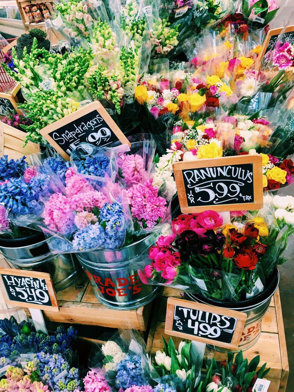 A Few Bunches Of Trader Joes Flowers Mixed Together Wish List