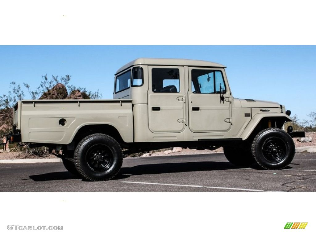 1963 land cruiser fj45 pickup tlc restomod beige black. Black Bedroom Furniture Sets. Home Design Ideas