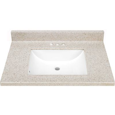 Style Selections Dune Solid Surface Integral 1 Bathroom Vanity Top Cultured Marble