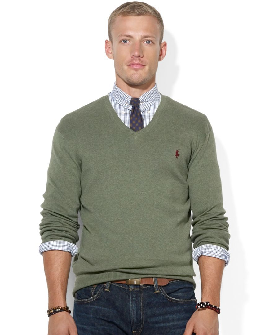 Polo Ralph Lauren Pima Cotton V-Neck Sweater | Products ...