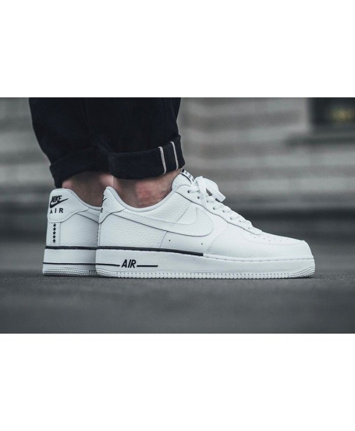 Nike Air Force 1 Homme Blanc Noir | Nike, Nike air, Running ...