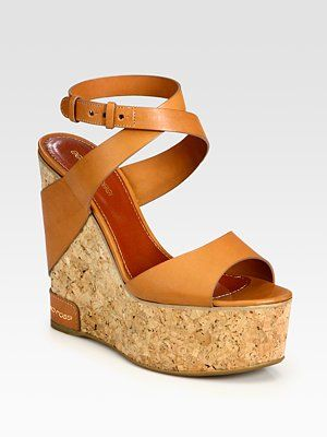 fake sale online Sergio Rossi Cork Ankle Strap Wedges cheap sale visa payment outlet from china best seller cheap online b3sEcPQUWf