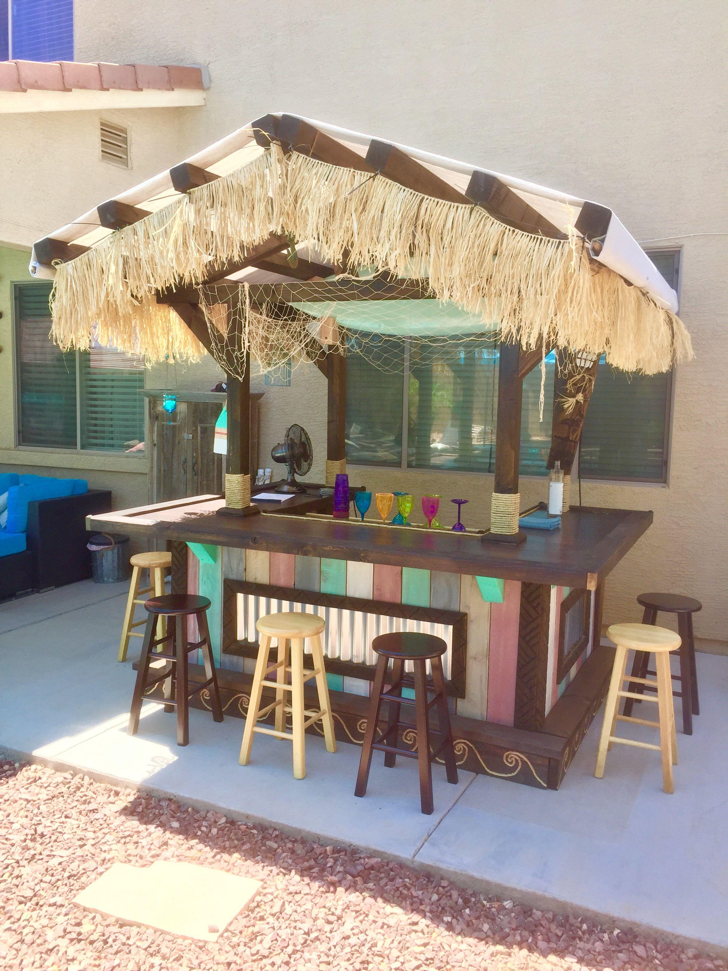 Back yard tiki bar diy outdoor bar outdoor tiki bar