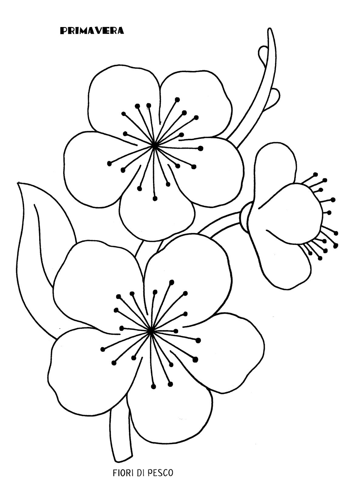 Disegni Da Colorare Primavera.La Maestra Linda Primavera Da Colorare Primavera Fiori