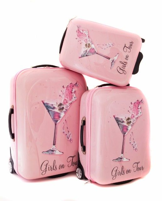 girls on tour pink suitcase, pink luggage set (516x640) | #31 WISH ...