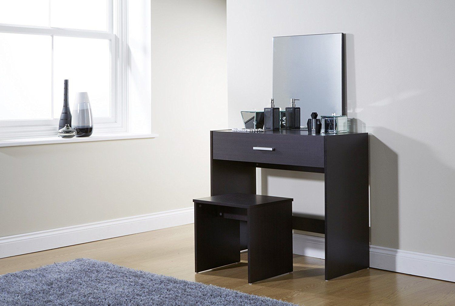 Julia Dressing Table Set 3 Colours With Stool and Mirror (Espresso ...