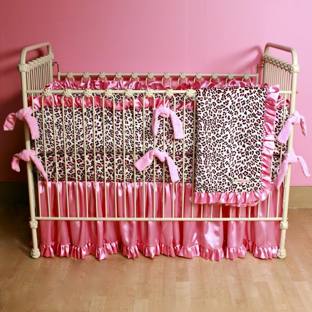 Leopard and red bedding - Bassinet Bedding Cottage Dreams Minky Leopard Crib Bedding