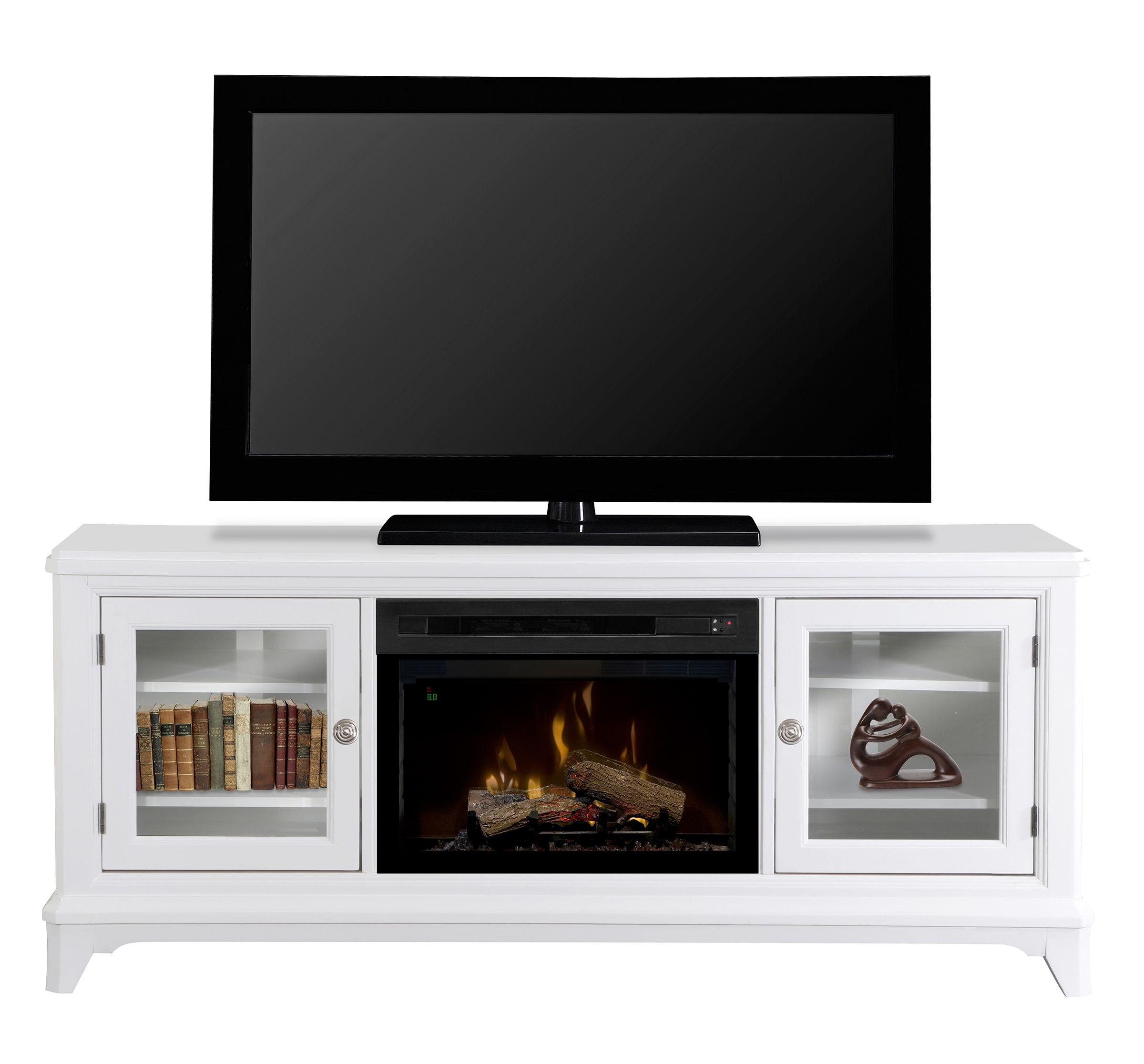 dimplex winterstein white media console electric fireplace rh pinterest com