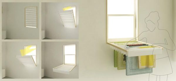 Turn Your Window Blind Into A Fold Down Laundry Rack Blinds For
