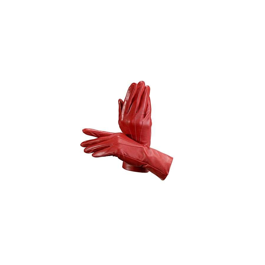 86c5c6334b376 Ladies Cashmere Lined Leather Gloves in Red from Aspinal of London