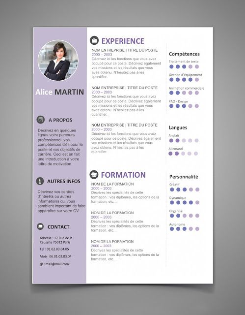 The Best Resume Templates For 2016 2017 Word Stagepfe Modele Cv Exemple Cv Exemple De Cv Original