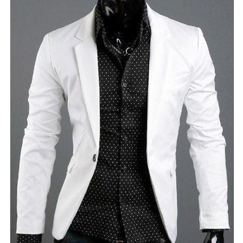 veste homme fashion formal slim fit blazer chic jacket. Black Bedroom Furniture Sets. Home Design Ideas