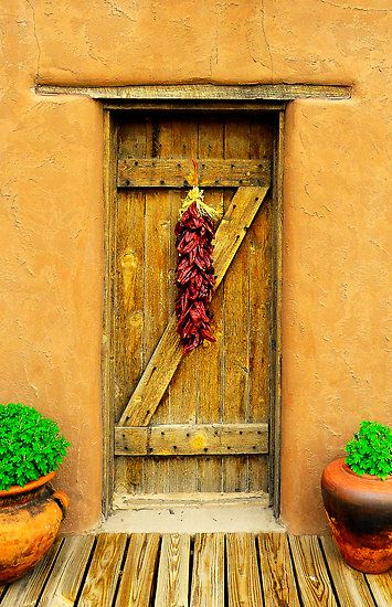 Chili Peppers On The Door Old Fort Bliss El Paso Texas By R Mike