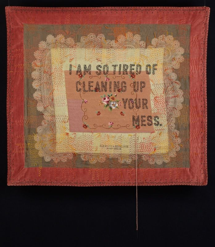 Amy Meissner, textile artist | Inheritance | From the post A history of misunderstanding | www.amymeissner.com/blog/a-history-of-misunderstanding