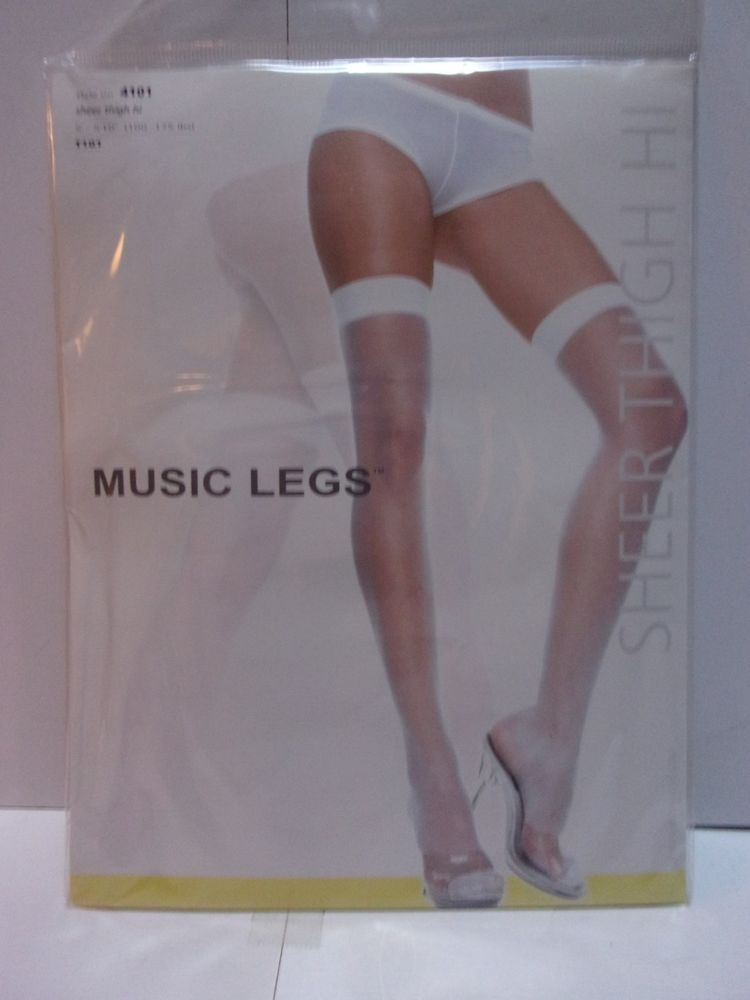 9e1333bf52d Vintage MUSIC LEGS Style 4101 Sheer Thigh Hi Stockings - NOS  fashion   clothing  shoes  accessories  womensclothing  hosierysocks (ebay link)