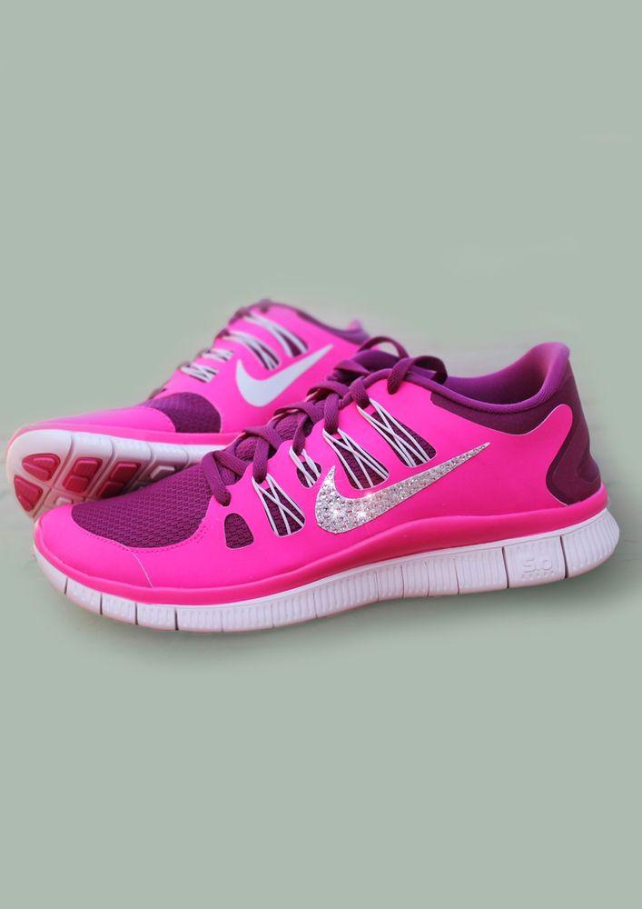 Swarovski Crystal Nike Free Run 5.0 Pink