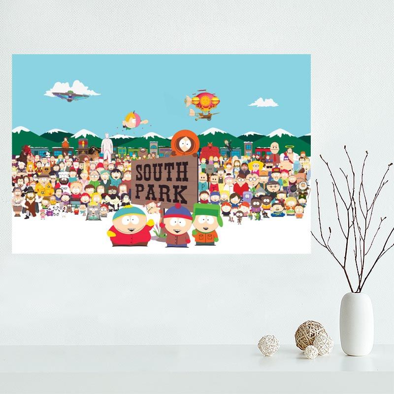New Arrival South Park Canvas Poster Hot Sale Custom Canvas Painting Poster Print Cloth Fabric Wall Art Poster Custom Canvas Painting Canvas Poster South Park