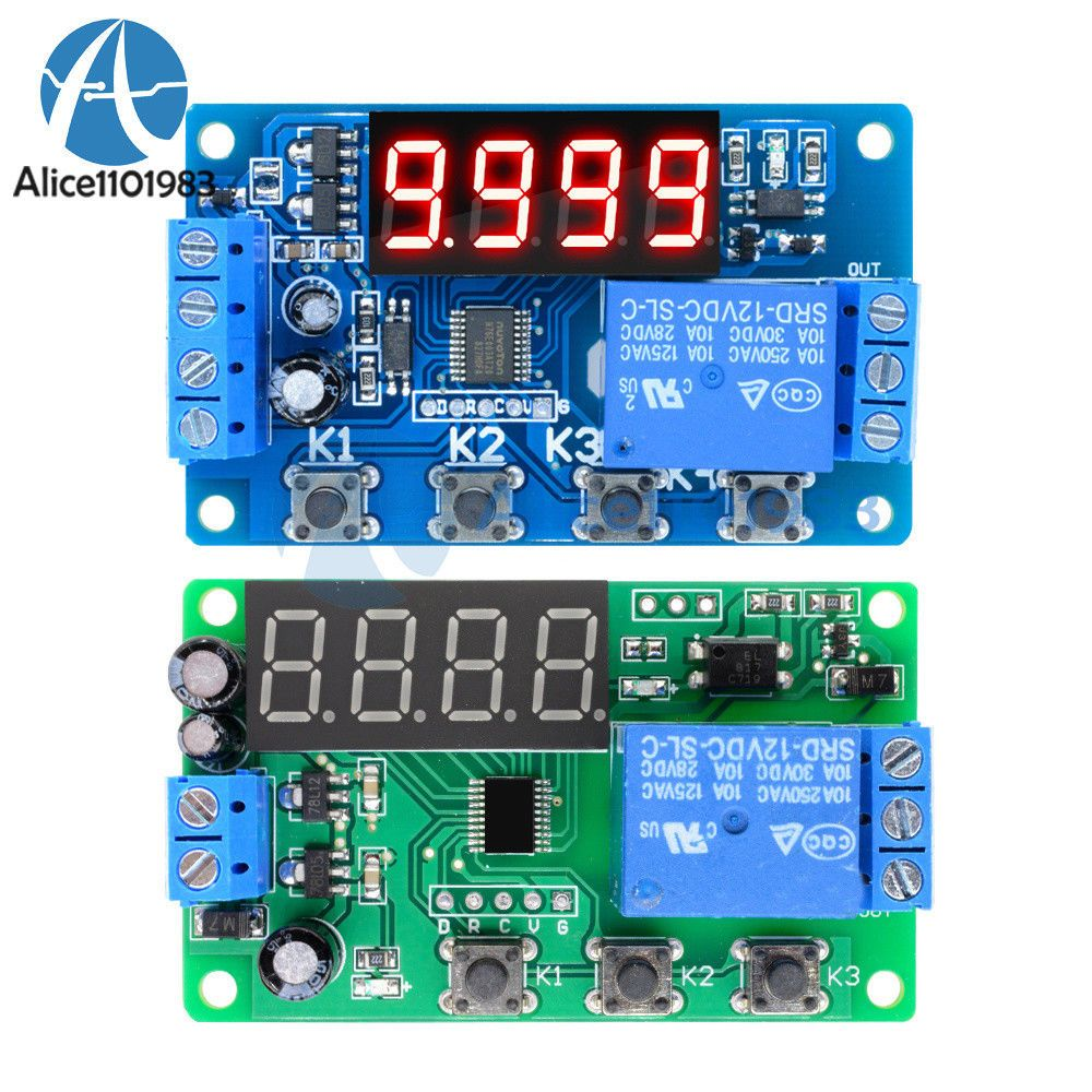 Ebay Sponsored Digital 12v Led Display Timer 3 4button Delay Relay Switch Programmable Module