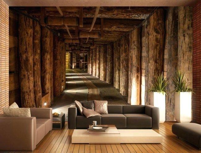 Wohnzimmer Tapeten Vorschlage Wand Im Wohnzimmer Tapete Idee