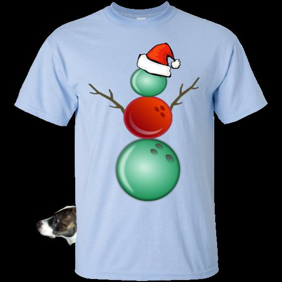 45a2c03e0b70 Funny Christmas Shirts Bowling Snowman T-Shirt | bowling | Bowling ...