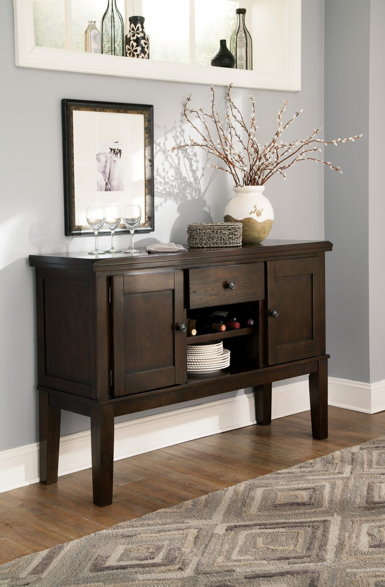 haddigan dark brown dining room server jr furniture home rh za pinterest com