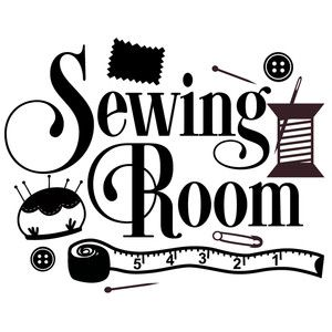 Silhouette Design Store: Sewing Room Title