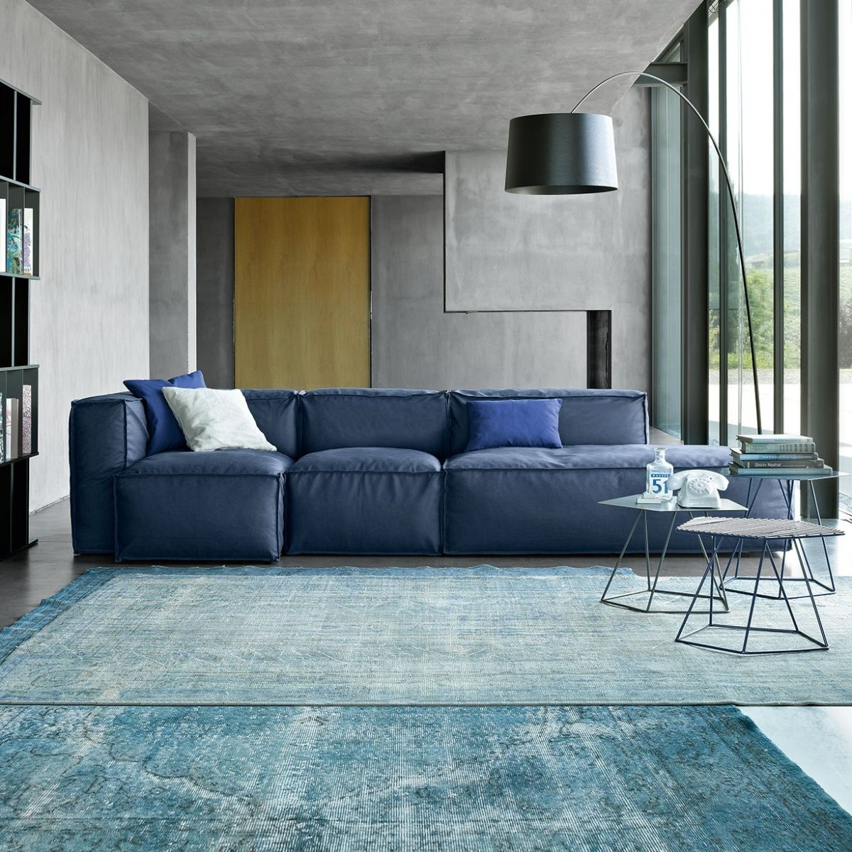 Peanut B design modular sofa characterized by