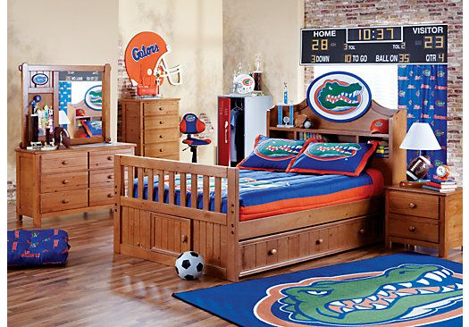 Shop For A Ncaa Creekside 5 Pc Full Bookcase Bedroom At Rooms To Go Kids