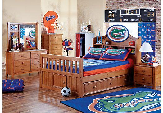 ncaa creekside 5 pc full bookcase bedroom ryder s room ideas rh pinterest com