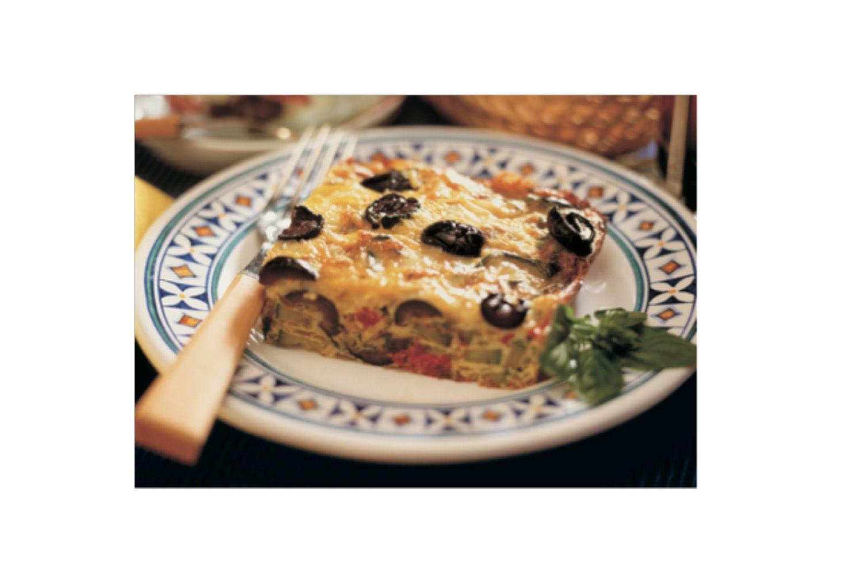 Frittata with Olives andFontina - Read More at Relish.com