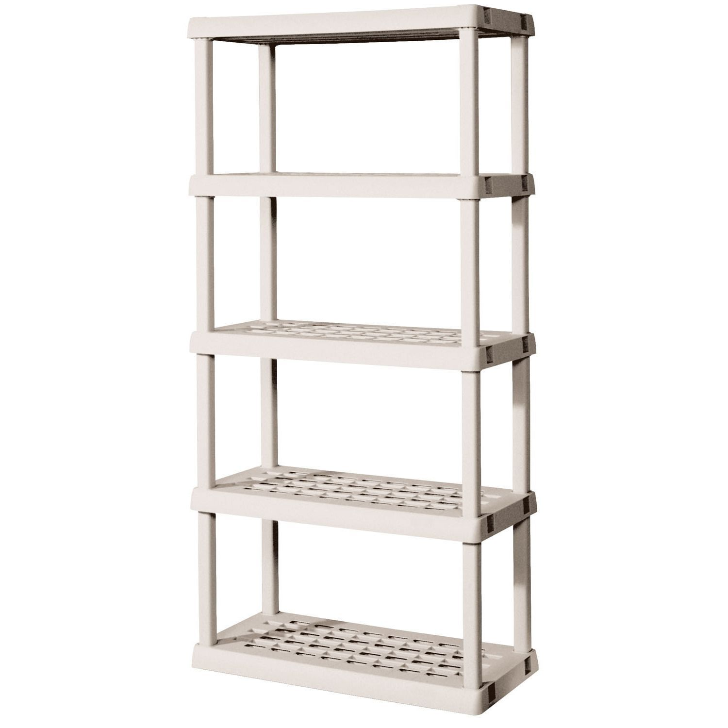 sterilite 01558501 5 shelf shelving unit hardware white platinum rh pinterest com