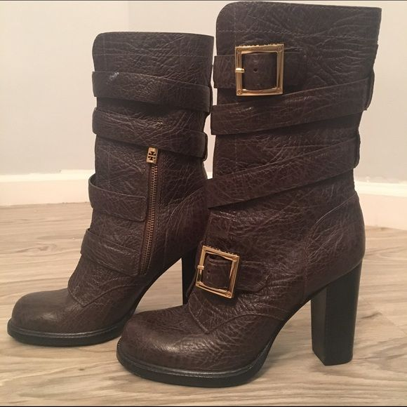 324e480accd Tory Burch Brown Pebbled Leather Boots size 7 Tory Burch Brown Pebbled  Leather Boots size 7. Extremely comfortable and only lightly used.