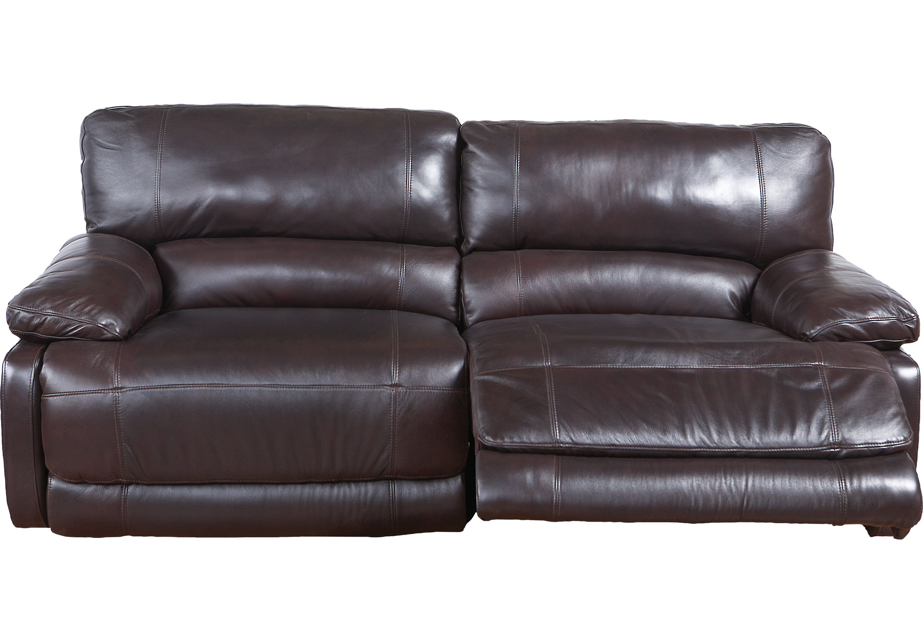 cindy crawford home auburn hills brown leather reclining sofa home rh pinterest co uk