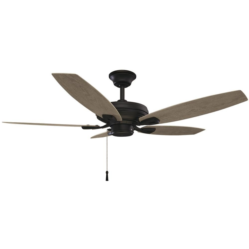 hampton bay north pond 52 in indoor outdoor matte black ceiling fan rh pinterest com