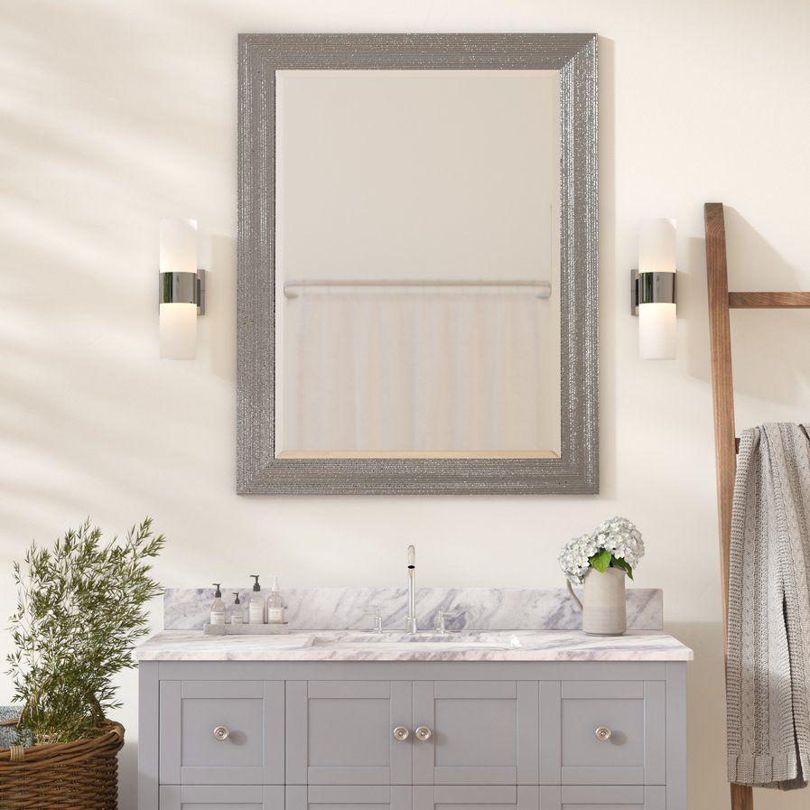 Brynlee Beveled Edge Bathroomvanity Wall Mirror  Bathroom Delectable Bathroom Wall Mirrors Inspiration Design