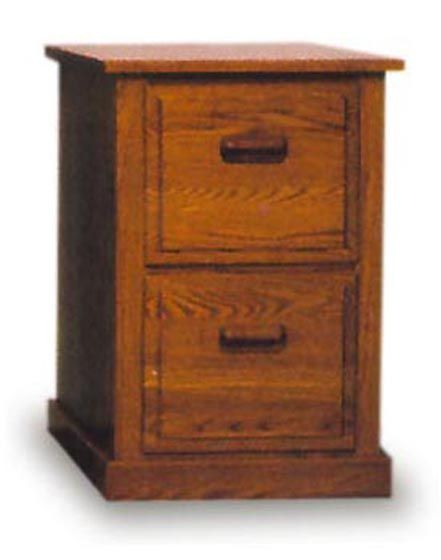 Two Drawer Wood File Cabinet Amish