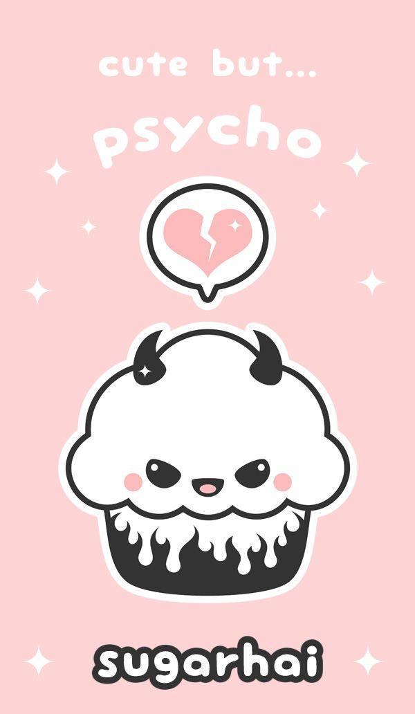 Cute Evil Cupcake Cute Kawaii Drawings Psycho Wallpaper Kawaii Drawings