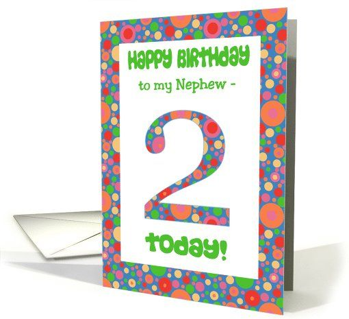 2nd Birthday Card For Nephew Bright And Bubbly Card