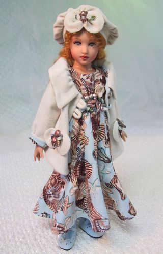 "/""Robe Spirale/"" Fashion Pattern for Kish Chrysalis Dolls"