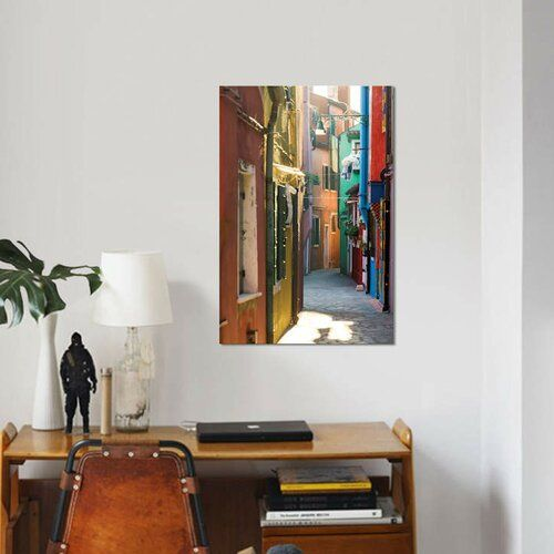 Photo of East Urban Home Canvas Print Small Alley in Burano, Venice by Matteo Colombo | Wayfair.de